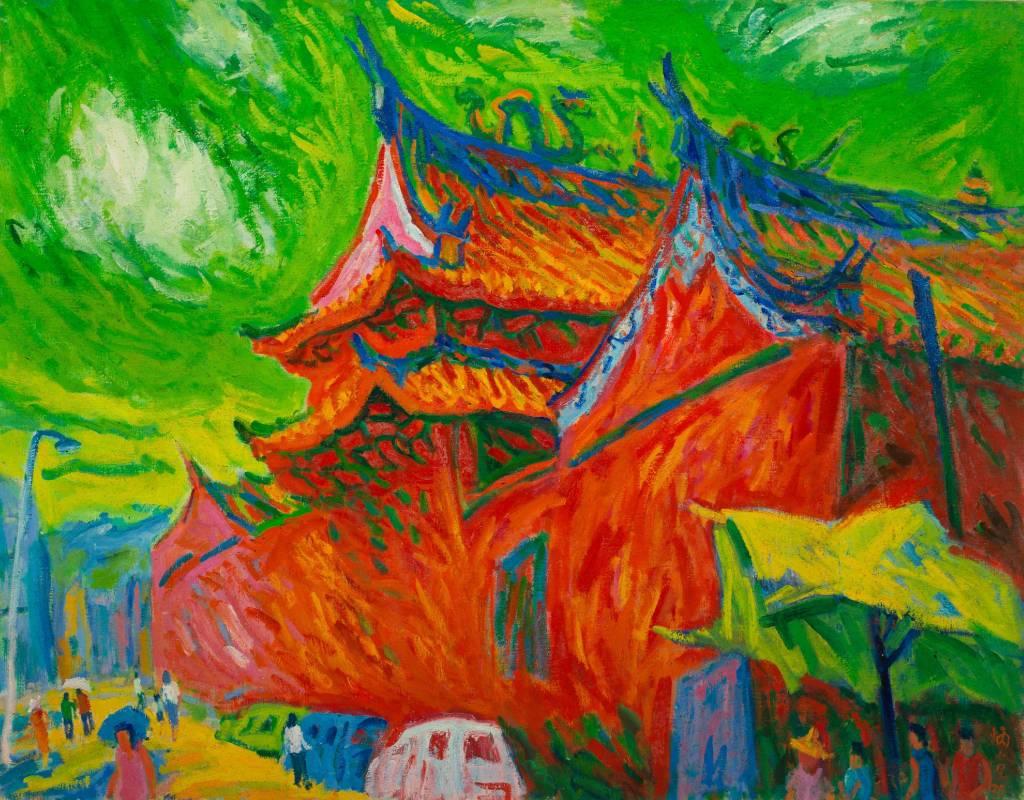 武廟, 1990, 50F, 油彩畫布