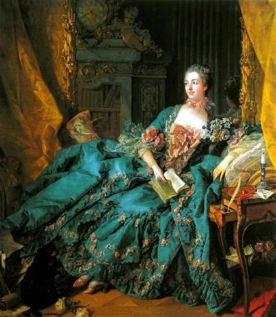 布雪《龐巴度夫人像》(Madame de Pompadour),1756。圖/取自Wikiart.org。