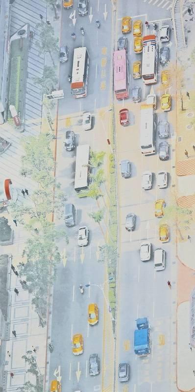 韓湘寧_台北鳥瞰圖-1_200 x 100 cm _微噴於畫布_2017