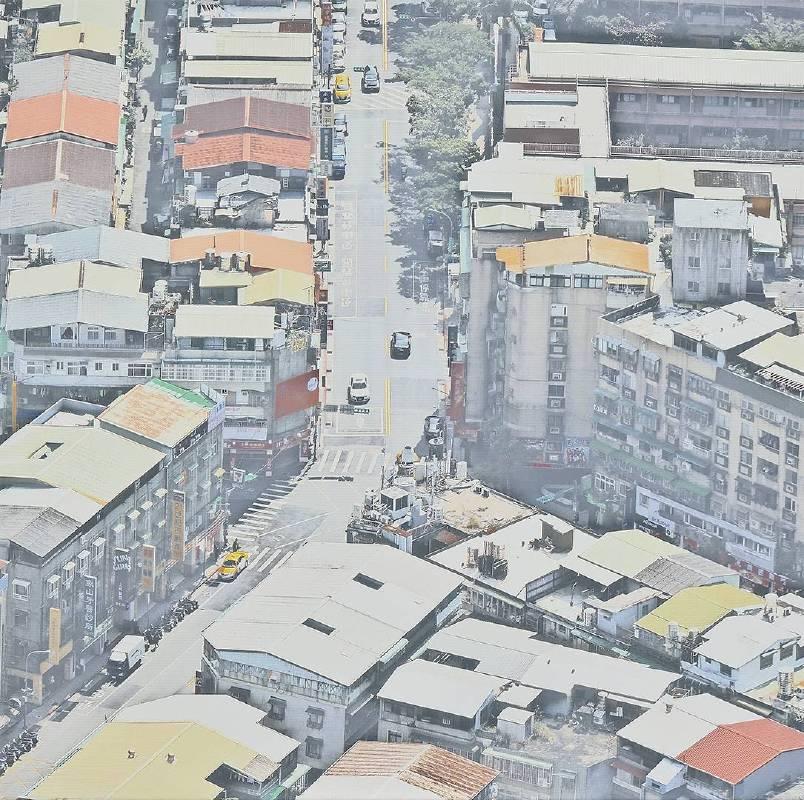 韓湘寧_台北鳥瞰圖-5_80 x 80 cm _微噴於畫布_2017