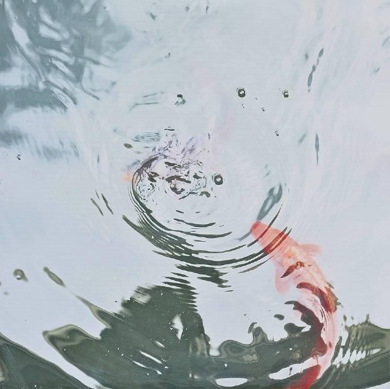 韓湘寧_大理而居魚池自畫像-6_100 x 100 cm _微噴於畫布_2017