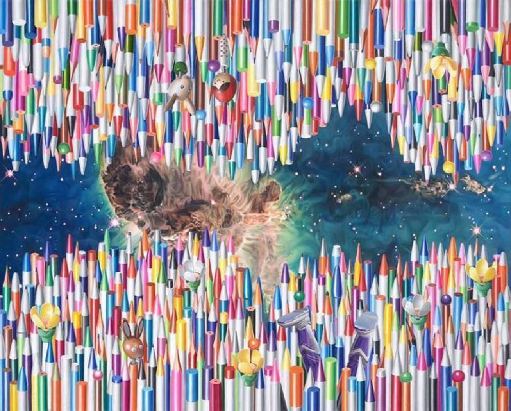 洪京澤 Hong Kyoung Tack 筆(寧靜的海)Pens (The Sea of Tranquility) 53x65.2cm 布面油彩 Oil on Linen 2011-2017