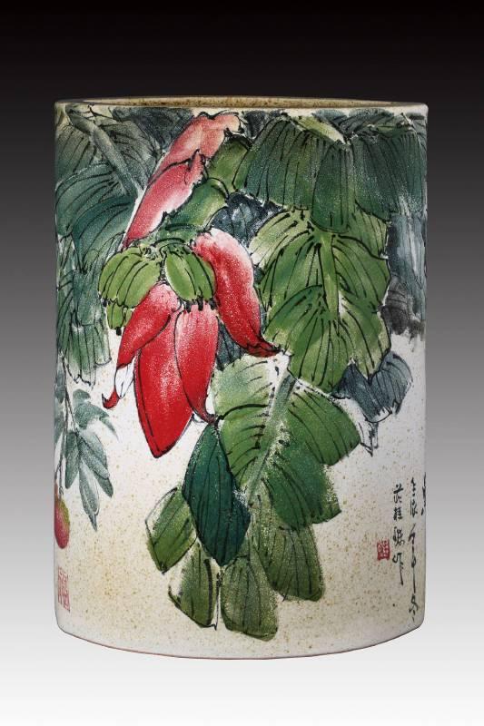莊桂珠 《結實纍纍》 2012  高71公分  彩瓷