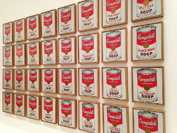 https://commons.wikimedia.org/wiki/File:Andy_Warhol-_Campbell%27s_Soup_Cans_(1962)_(8477712014).jpg