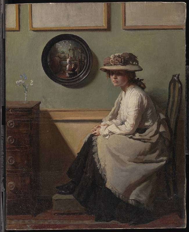 X8907 William Orpen The Mirror, 1900 Oil on canvas 50.8 × 40.6 cm © Tate, London (N02940)