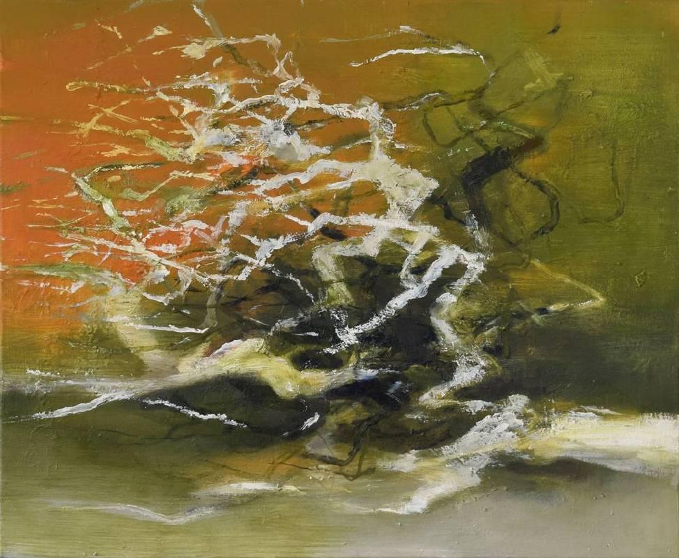 周宸Chou Chen,深秋Fall,油畫Oil on canvas,53x65 cm 15F,2017