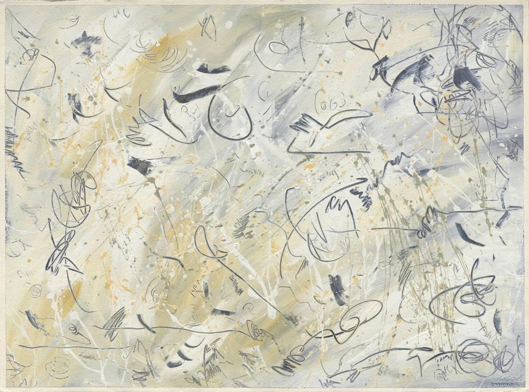 Jo Hsieh None-Space M65 1995 56x76cm 複合媒材、紙