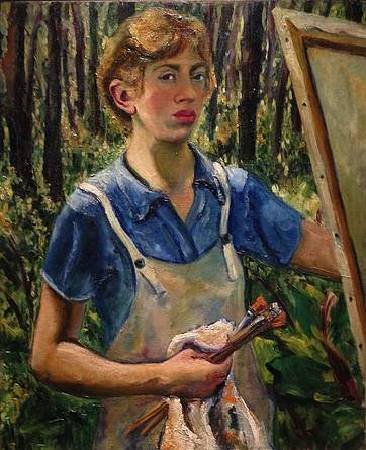 克拉斯納《自畫像》,1930。
