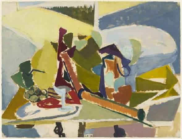 克拉斯納《靜物畫》(Still Life),1938。