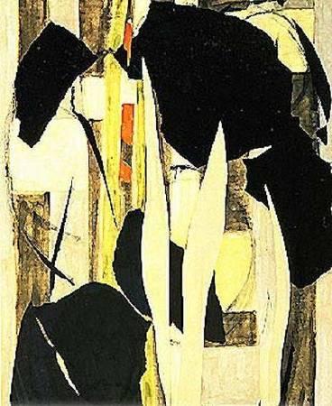 克拉斯納《馬利筋》(Milkweeds),1955。