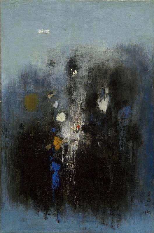 1962_鍾泗濱 虛空 1962 油彩畫布 91x60.3cm