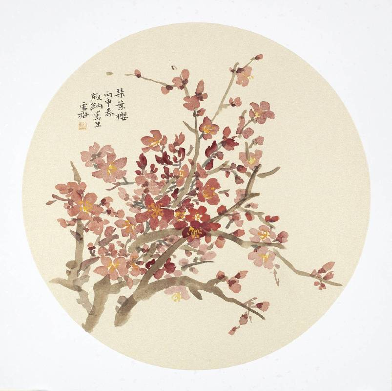 琴葉櫻 纸本Ф33cm2016年