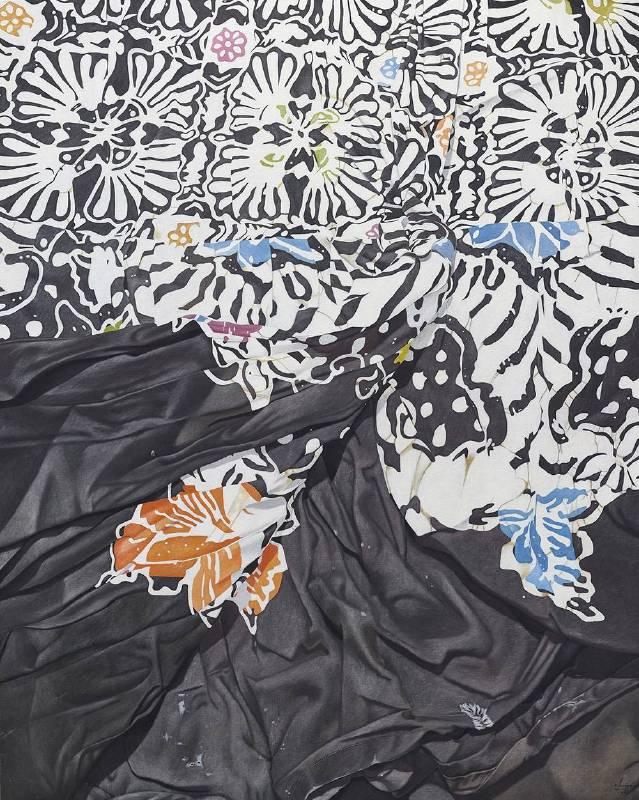 Marina Cruz 《褪去的黑白與綻放的色彩》  152.4 x122 cm  油彩畫布  2017