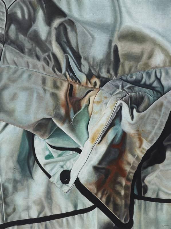 Marina Cruz 《她肩頭的重量》  121.92 x91.44 cm  油彩畫布  2017