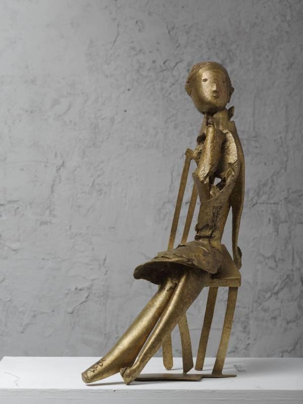 小女孩  31x15.5x51cm,Bronze,2016