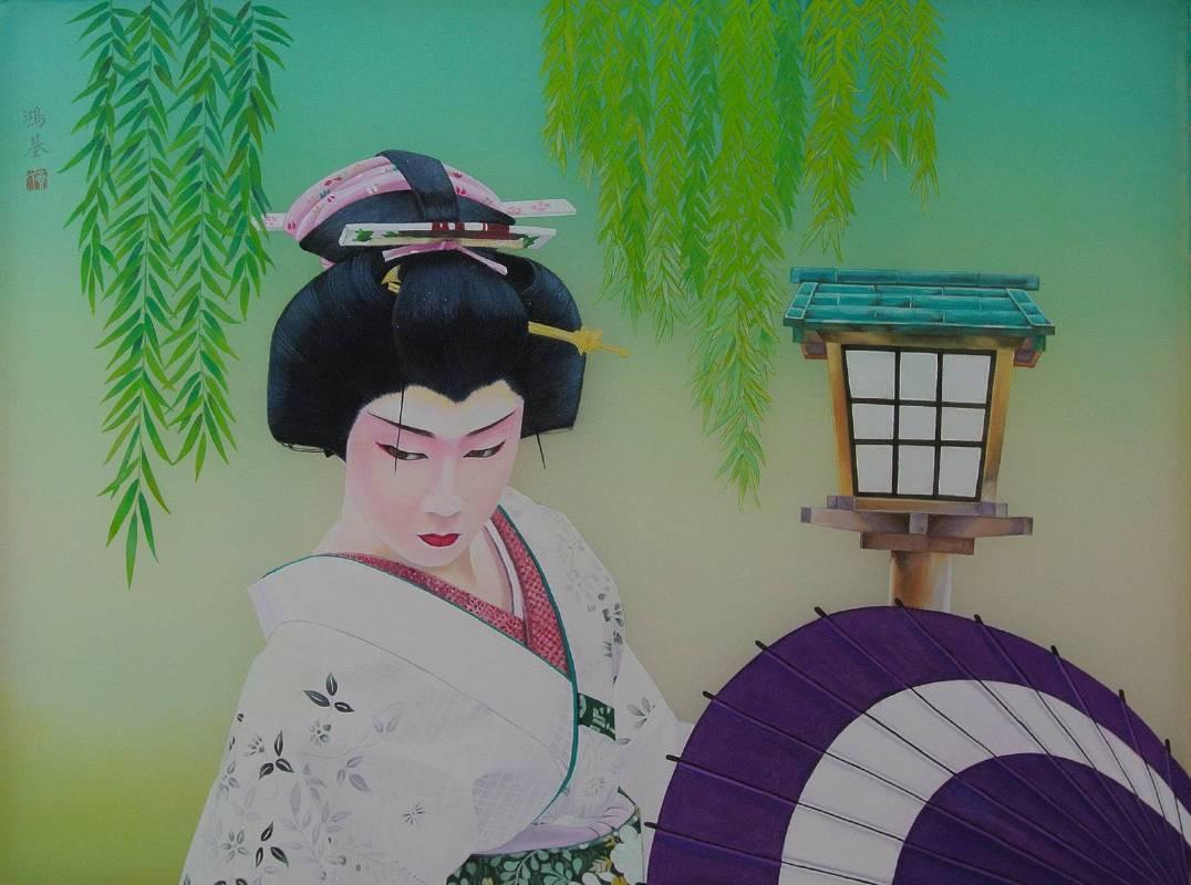 2014 男歌舞伎 60.5cmX80cm 膠彩絹本