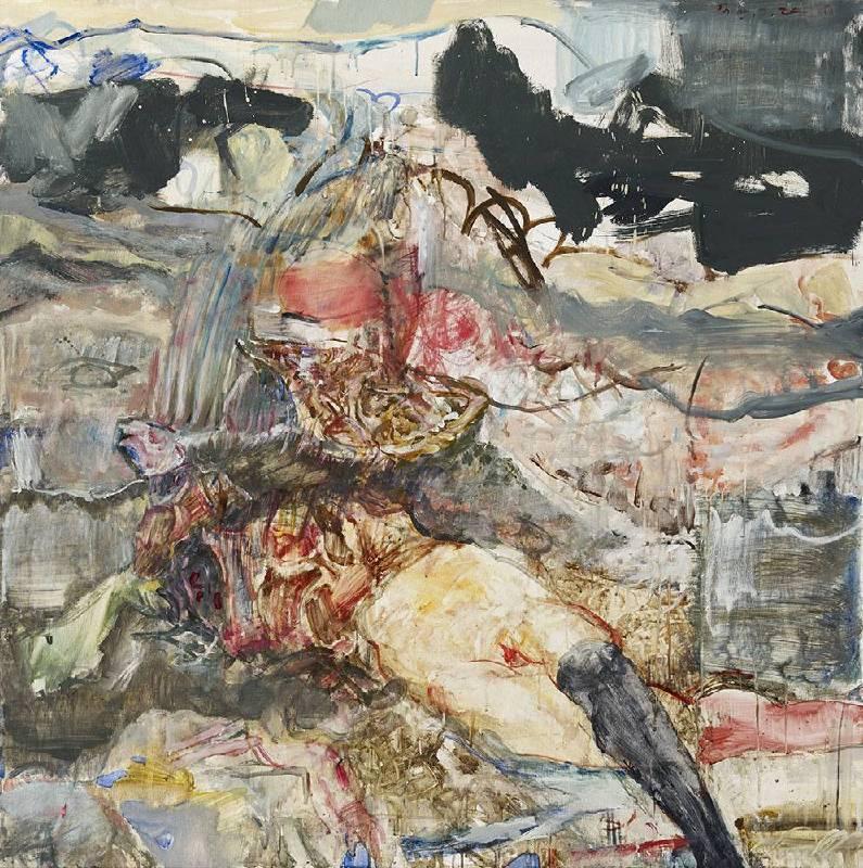 鍾江澤 《蛹》 Pupa  2017 油彩、畫布 Oil on canvas 120x120 cm