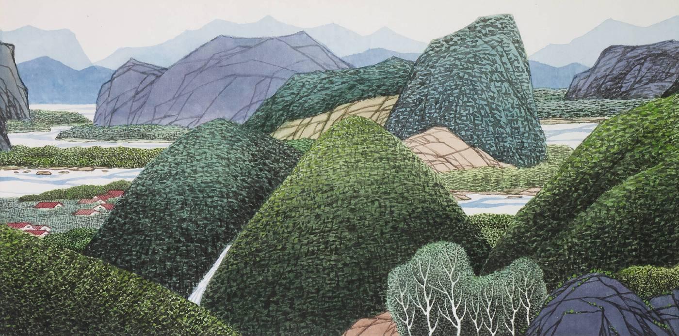 山環水抱(2007) 60x120cm
