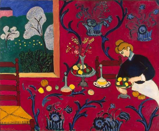 馬蒂斯《紅色的和諧》(Harmony in Red),1908。圖/取自flickr。