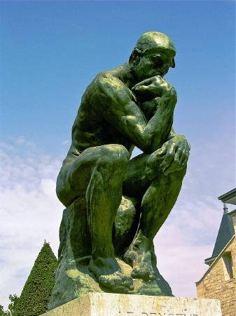 Auguste Rodin, The Thinker。圖/取自Wikipedia。