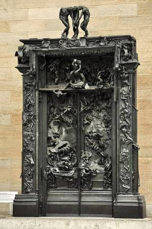 Auguste Rodin, The Gates of Hell。圖/取自Wikipedia。