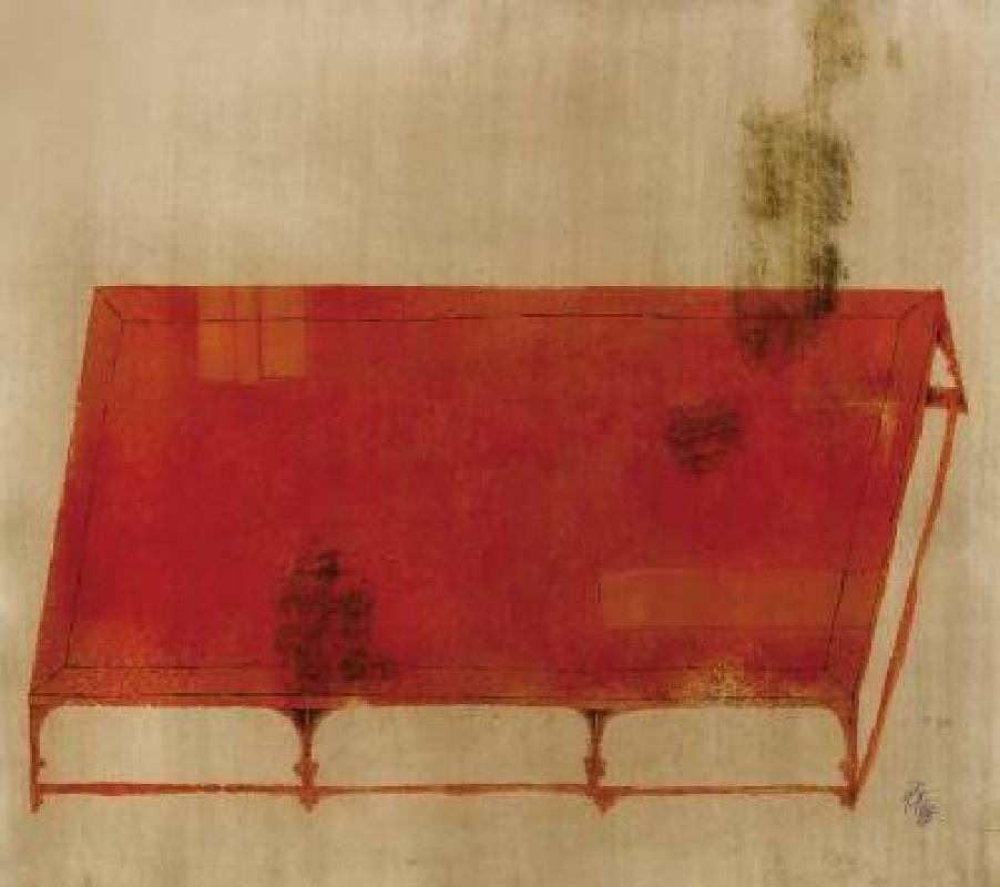 王懷慶 <獨睡之榻>,版畫 H.C. 5/10,76x86cm
