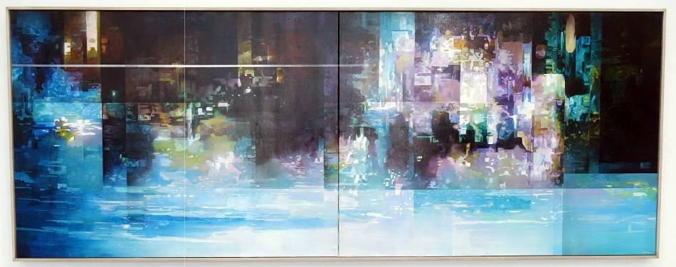 王建文,觀星者系列I-迷失的星空,油彩、畫布,2017年。圖/ 非池中藝術網攝
