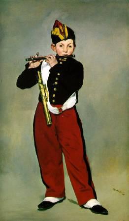 馬奈《短笛手》(The Fifer),1866。圖/取自Wikipedia。