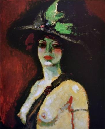 凡東榮《戴大帽子的女人》(Woman with Large Hat),1909。圖/取自Wikipedia。