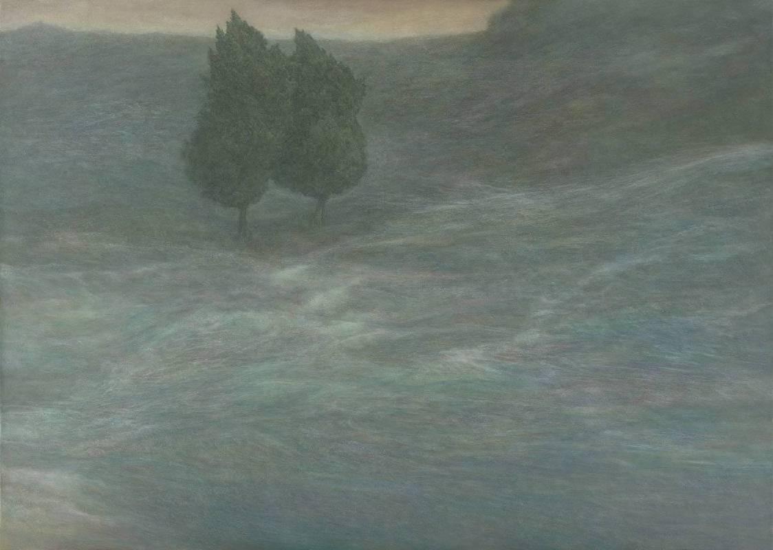 林煒翔 《晃遊(十四) 》 Stroll (14)   2017  油彩、畫布 162x227cm