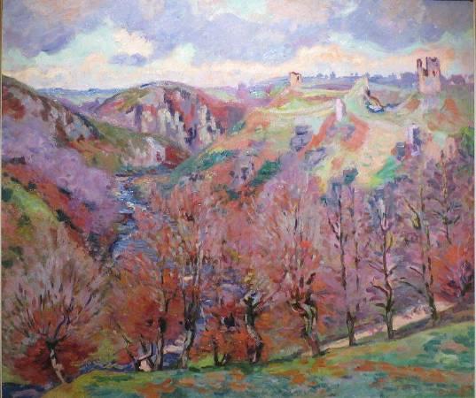 基約曼《有廢墟的景色》(Landscape with Ruins),1897。圖/取自Wikipedia。