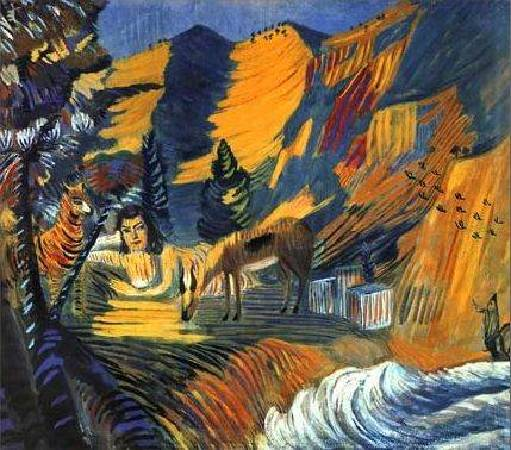 Martiros Saryan,《By the Sea. Sphinx》,1908。圖/取自wikipedia。