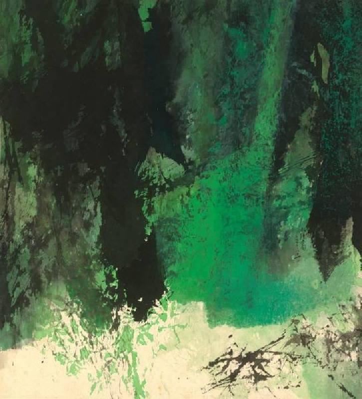 馮鍾睿,1973-81,1973,壓克力紙本,74.9×68.6cm。