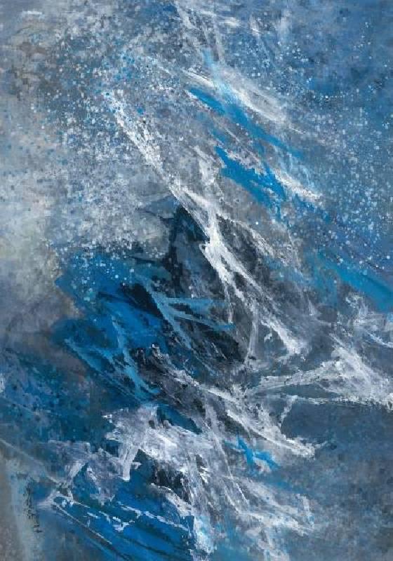 馮鍾睿,1975-37,1975,壓克力紙本,82.4×58.2cm。