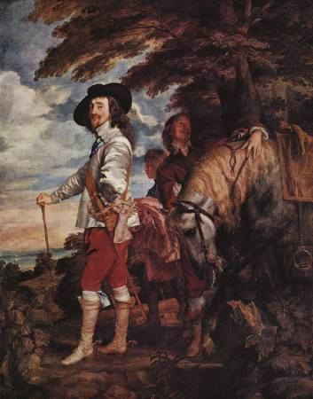 范戴克《Charles I at the Hunt》。圖/取自Wikipedia。