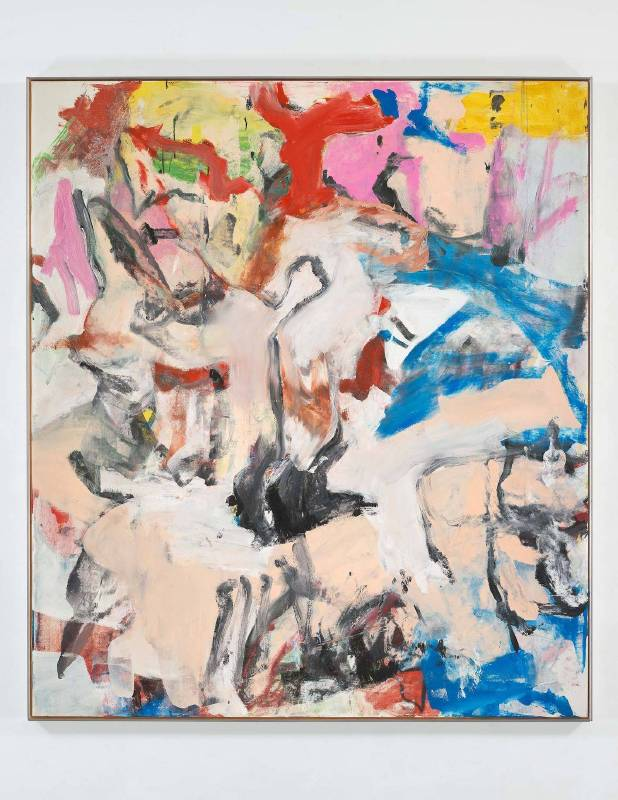 de Kooning_Untitled XII_1975 framed© 威廉·德·庫寧基金會 / 藝術家權利協會(ARS),紐約
