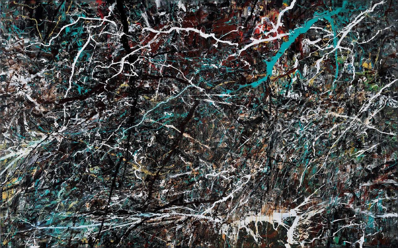薛保瑕-臨在-2016-壓克力顏料畫布--215x346cm