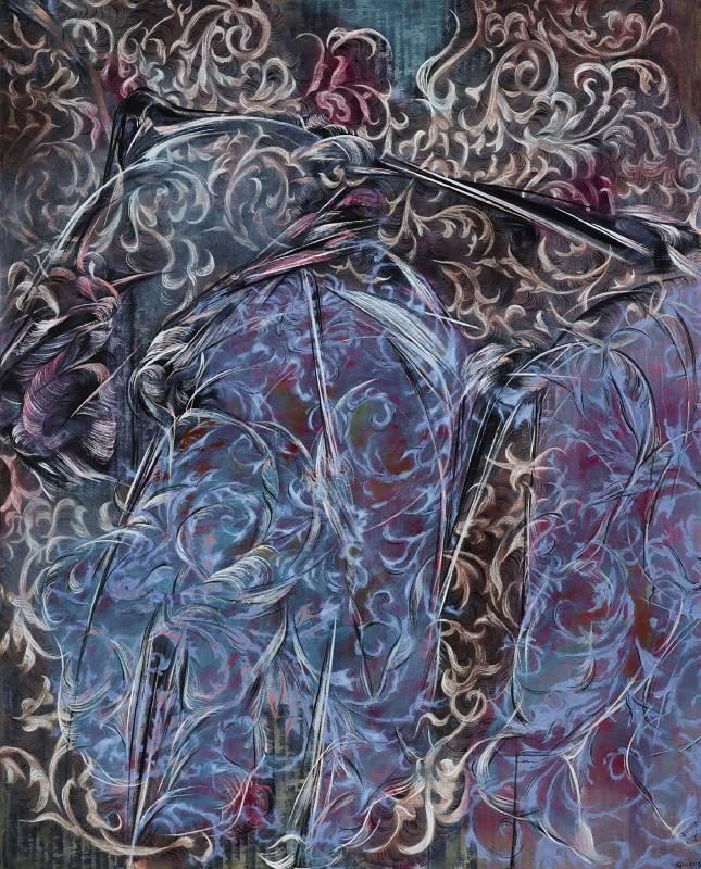 謝鴻均-姿態的解讀I-162x130cm-油畫、畫布-2015