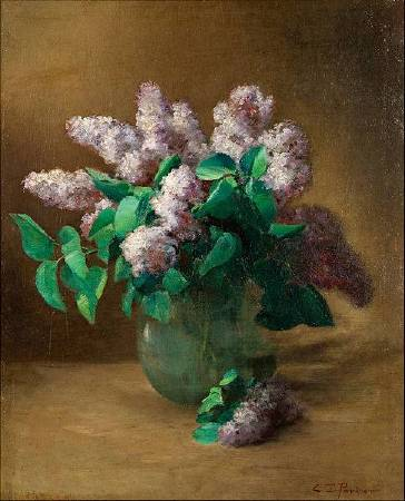 Charles Ethan Porter《Lilacs》,1890。圖/取自Wikipedia。