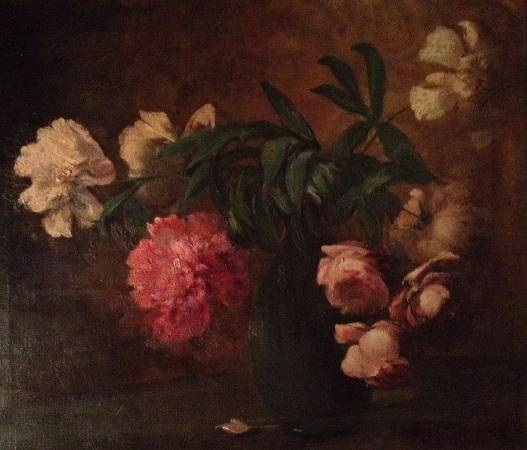 Charles Ethan Porter《Still Life with Vase of Pink and White Peonies 》。圖/取自Wikipedia。