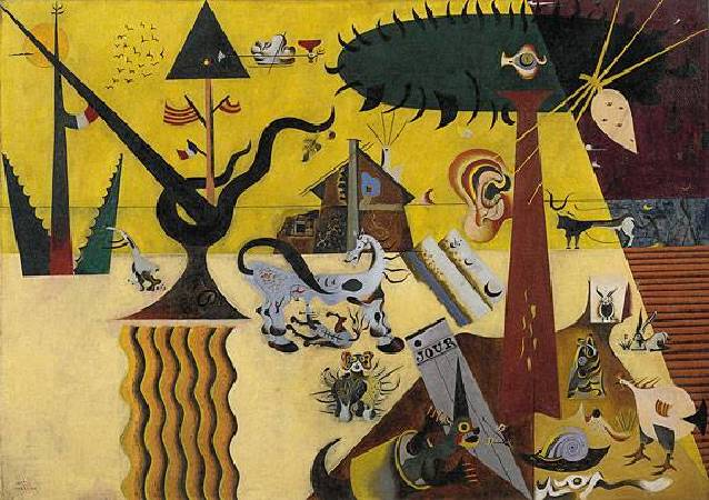 Joan Miró,《 Field》。圖/取自flickr。