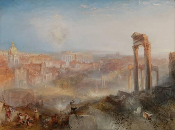 J.M.W.Turner,《Modern Rome – Campo Vaccino》,1824。圖/取自Wikipedia。