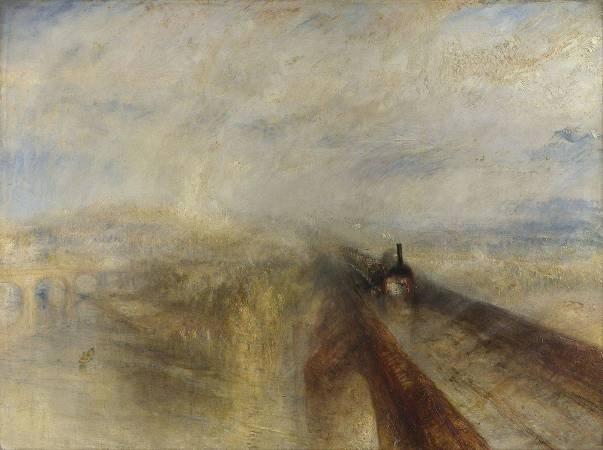 J.M.W.Turner,《Rain, Steam and Speed – The Great Western Railway》,1844。圖/取自Wikipedia。