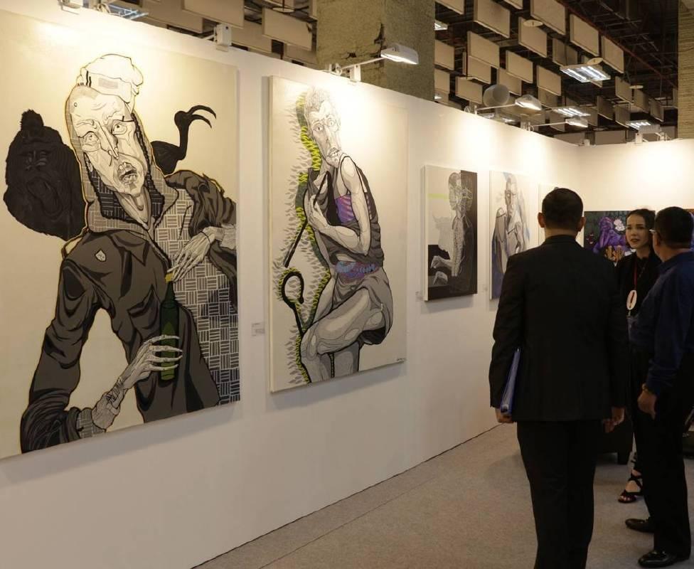 「2018台北新藝術博覽會」國際藝術家專程遠道來台與民眾面對面分享交流。