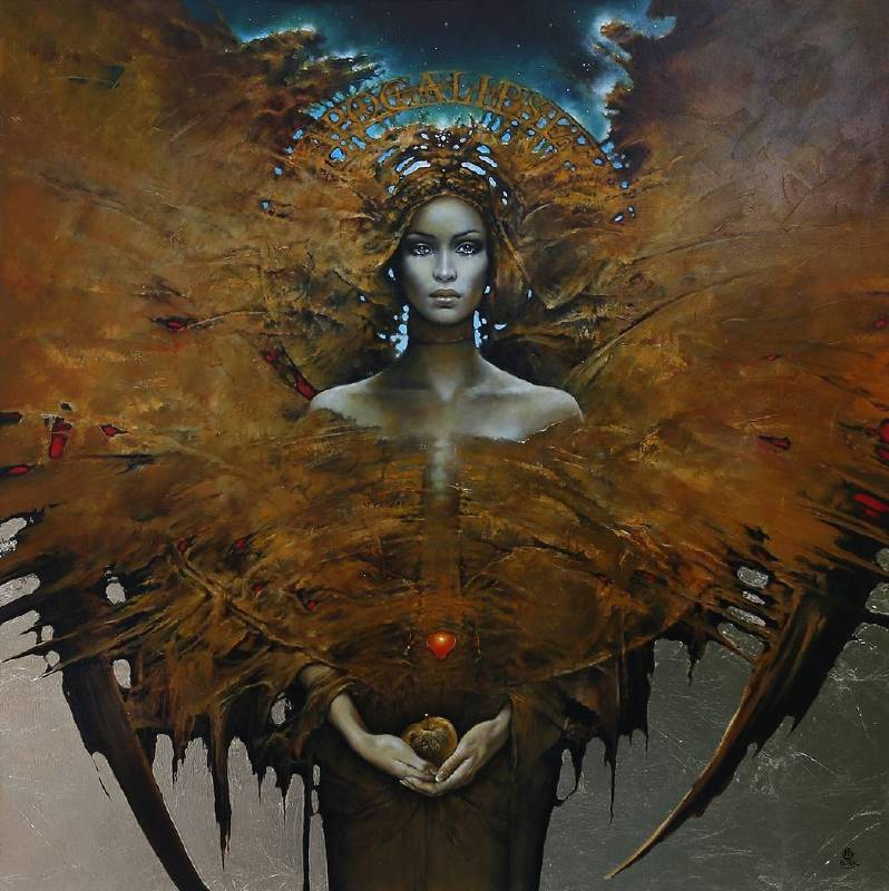 波蘭╱Karol Bak《APOCALIPSE》Oil on Canvas 100×100cm 2018
