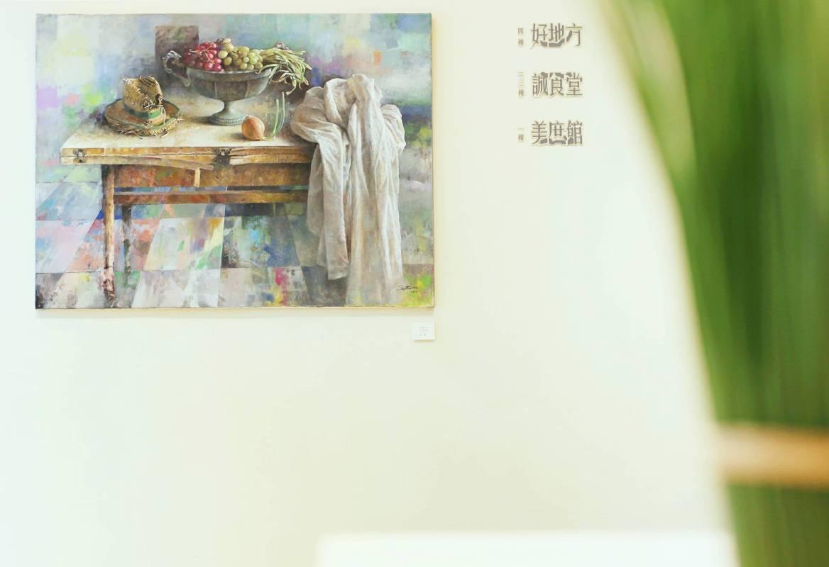 阿波羅畫廊 x The One中山誠食堂 ─ 胡文賢油畫個展 場景