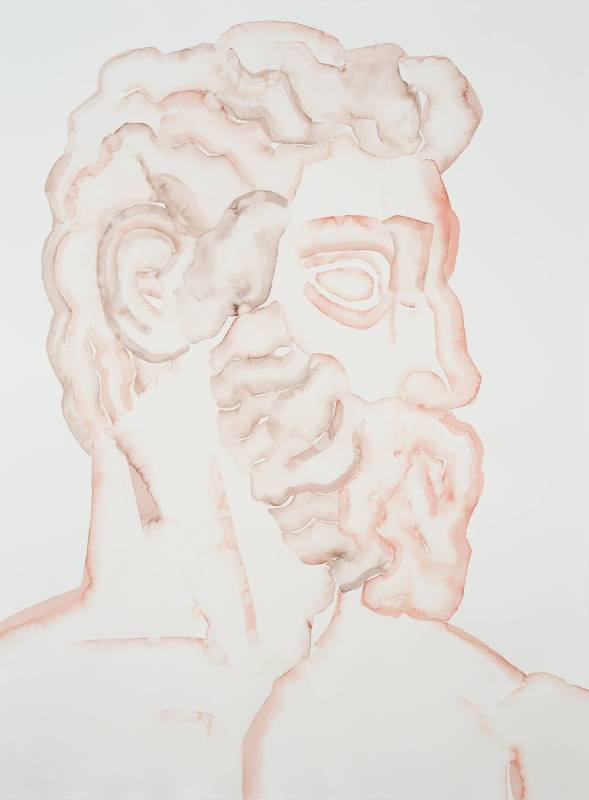 Florence Neptune I, HU Zi 胡子, 2018. Gouache on paper 纸上水粉, 76.5 × 56 cm。圖/東畫廊提供。