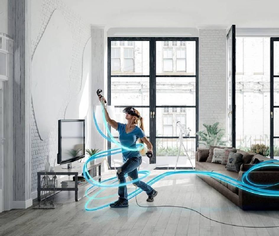 VR藝術創作體驗區,人人都是藝術家。
