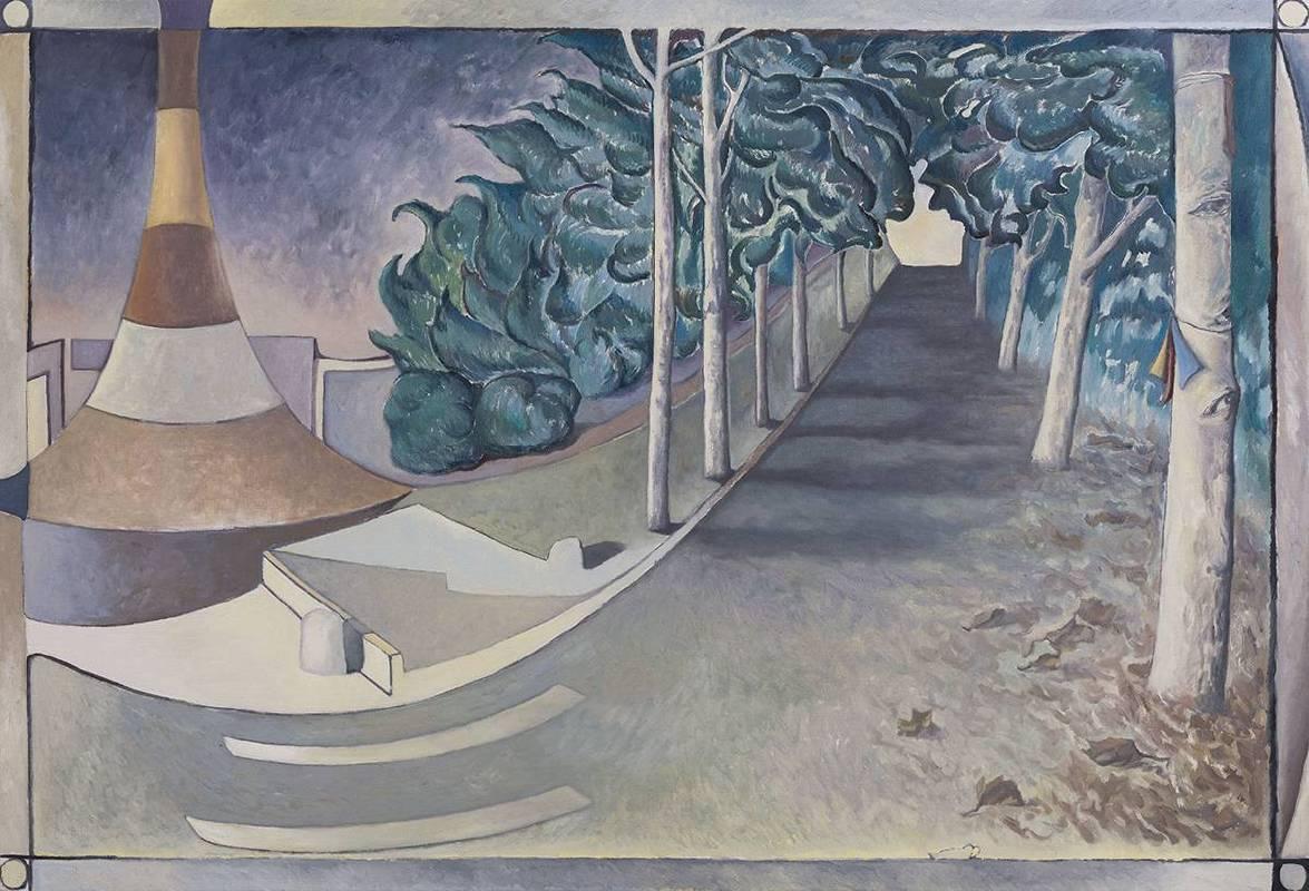 贺勋HeXun_莫兰迪--初冬Morandi-Early Winter_2017_布面油画Oil on canvas_150x220cm(图片由艺术家与亚洲当代艺术空间提供Courtesy of artist and A+ Contemporary)