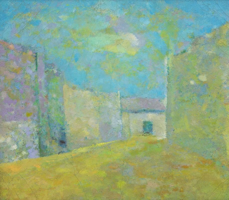 陳德旺 三重街景(路厝(五)) 1978 油彩畫布 45.5×53cm